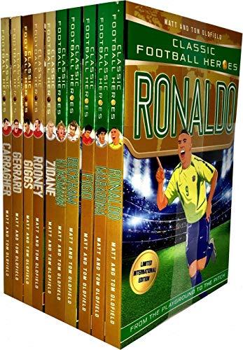 Classic Football Heroes Legend Series Collection 10 Books Set By Matt & Tom Oldfield (Ronaldo, Maradona, Figo, Beckham, Klinsmann, Zidane, Rooney, Giggs, Gerrard, Carragher)