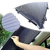 46 cm de protección solar para coche, universal, retráctil, protección UV, aislamiento térmico, para la mayoría de los coches