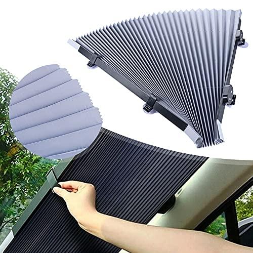 Protector solar para el parabrisas del coche, 46 cm, automático, retráctil, protección UV, aislamiento térmico para la mayoría de los coches