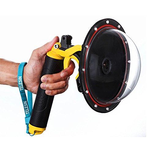 telesin puerto de cúpula transparente buceo lente para SJ6SJ7con impermeable caso de vivienda, mano flotante Grip, gatillo pistola para fotografía subacuática para SJ6leyenda/SJ7Star