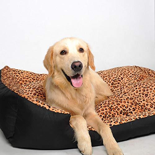 MiaoMiao Luxe High-End Huisdier Huis Bed Kennel Volledig Verwijderbaar En Wasbaar Grote En Kleine Huisdier Nest Vier Seizoenen Universele Nest, LeopardS