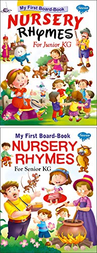 Sawan Set of 2 Books My First Board Book (Nursery Rhymes for Junior KG, Nursery Rhymes for Senior KG)