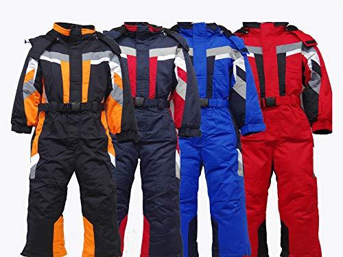 Moderei Auswahl an Winteranzug | Schneeanzug | Schneeoverall Skianzug | Skioverall Snowboard Unisex | Jungen | Mädchen | Herren | Damen Schneeanzug Hauptfarbe-Rot | Blau | Orange Schwarz (128, Orange)