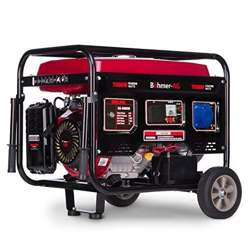 Böhmer-AG 8000W-e Benzin Stromerzeuger Stromgenerator, Stromerzeuger - elektrische Zündung 9,5 kVA - 13 PS