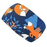 Wollhuhn Öko Jungen/Mädchen Cooles Elastisches NIGHTFOX Haarband/Stirnband Blau/Orange 20200316