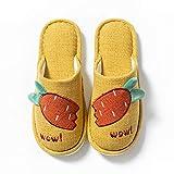 Zapatillas Algodón Mujer Slippers,Zapatillas De Felpa De Zanahoria De Dibujos Animados, Zapatillas D...