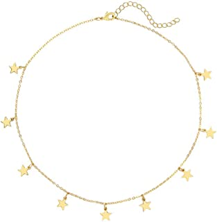 Star Necklaces for Women and Girls Star Choker Necklace Adjustable