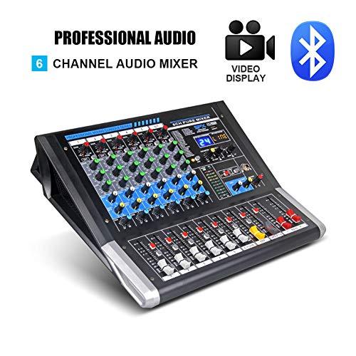 Best Prices! HBIAO Dj Controller, Mezclador De Audio De 6 Canales Controlador De Dj Tablero De Sonid...