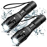 Tactical Flashlight, Wowlite Ultra Bright XML T6 LED Torch with 5 Light Modes