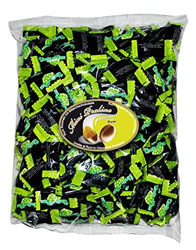 Cioccafè Confetti Ricoperti Di Cioccolato Fondente In Monoporzione - Confetti Incartati Singolarmente Con Uvetta Ricoperta di Cioccolato Al Rum Cioccaffè Bolero, Busta 500gr