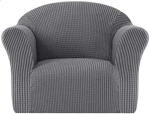 ADIS Hochdehnbarer Kinder-Sofabezug für Kindersessel, Mini-Größe, Sofa-Schonbezüge für 1-Sitzer, weicher Sessel, Couch-Bezug, Mantel für Kinder/Kleinkinder/Babys, Hellgrau