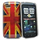 Accessory Master 5055403887005 - Carcasa de plástico para HTC Sensation G14, diseño de bandera de Reino Unido envejecida