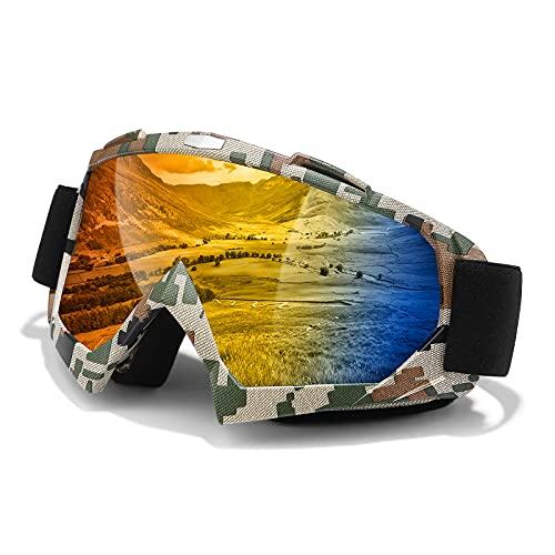 Dirt Bike Goggles, Motor Goggles, UV Protective Anti-fog Adjustable