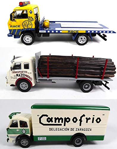 OPO 10 - Lote de 3 Camiones Pegaso 1/43: Cabezon + FORESTIER + EKUS (LW1 + 2 + 4)