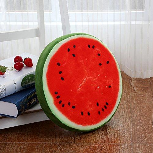 AMYDREAMSTORE Fruits Peluche Épaissir Coussin Tatami Chaise Assise Tapis de Sol Coussin de Chaise berçante Sofa éponge Imperméable Oreiller extérieur-X 39x39x7cm(15x15x3inch)