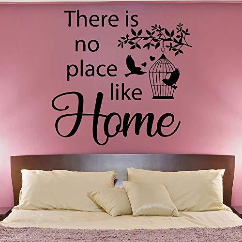 Home wandtattoo woonkamer wooncultuur romantische vogels liefde hart vinyl muursticker voor slaapkamer decoratie 57X58 cm
