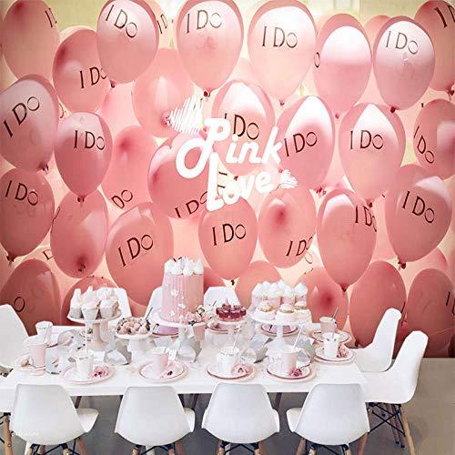 RQWBH zelfklevend behang 3D-muurschildering Scandinavisch warm romantisch meisje roze kinderen slaapkamer behang muur interieur jongen meisjes slaapkamer hotel woonkamer tv-achtergrond muurkunst 200x150 cm (BxH) 4 Streifen - selbstklebend