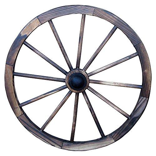Leigh Country TX 93949 24' Wagon Wheel, 24 Inch, Walnut Finish