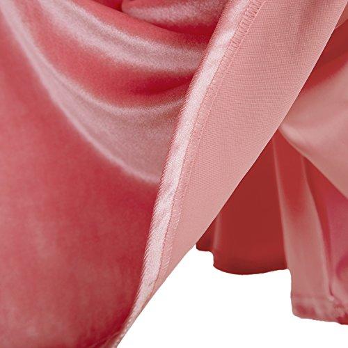 urban GoCo Mini Falda Elástica Patinadora de Terciopelo de Retro (S, Rosa)
