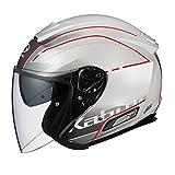 オージーケーカブト(OGK KABUTO) バイクヘルメット ジェット ASAGI BEAM(ビーム) パールホワイト 569471 S (頭囲 55cm~56cm)