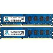 Motoeagle 8GB Kit (4GBX2) DDR3/DDR3L 1600 UDIMM, PC3/PC3L 12800U 4GB 2Rx8 1600MHz 1.35V/1.5V 240-Pin Dual Rank Non-ECC Unbuffered Desktop Memory Ram Module Upgrade