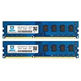 Motoeagle 8GB Kit (4GBX2) DDR3/DDR3L 1600 UDIMM, PC3/PC3L 12800U 4GB 2Rx8 1600MHz 1.35V/1.5V 240-Pin Dual Rank Non-ECC Unbuffered Desktop Memory Ram Module Upgrade