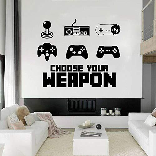 Your choice gamer pegatinas de pared creativas juego pegatinas de pared dormitorio de los niños sala de juegos pegatinas de pared de vinilo