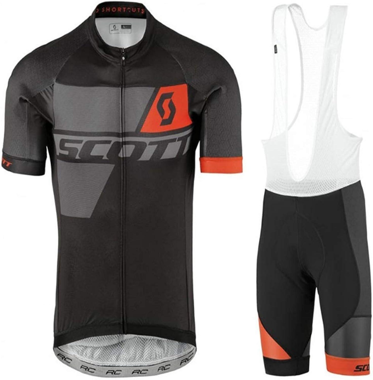 Men's Cycling Jersey Short Sleeve Cycling Set Summer Breathable Short Sleeve Shorts Riding Set