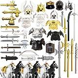 LICI Militari Arma Set,49 Pezzi Medioevo Soldato Armatura Casco Set,Cavaliere Spada Access...