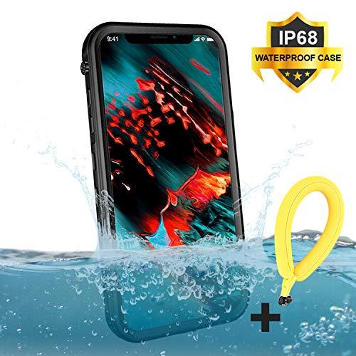 BDIG Funda Impermeable iPhone XS MAX, 360 Funda IP68 Certificado Delgado Cover a Prueba de choques Anti-rasguños Full Body con Protector de Pantalla Impermeable Funda para iPhone XS MAX (Negros Sets)