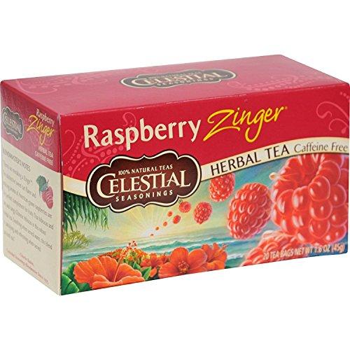 Celestial Seasonings Herbal Tea, Raspberry Zinger, 20 Count (Pack of 3)