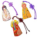 Korean Traditional Miniature Cool Bookmarks Souvenirs Gifts for Student Kids Adults Wife Friends - Coolest Metal Unique Color Designs Bookmark Pack (Woman's Hanbok 3 Pack)
