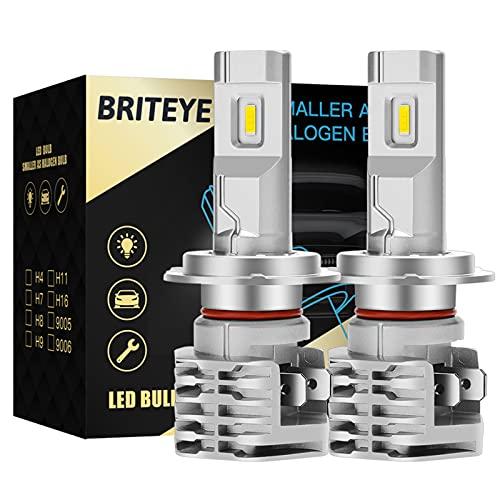 Briteye Bombillas H7 LED Lampara Coche 6500K Blanca DC 12V/24V Faros Luces LED Coche(2pcs)
