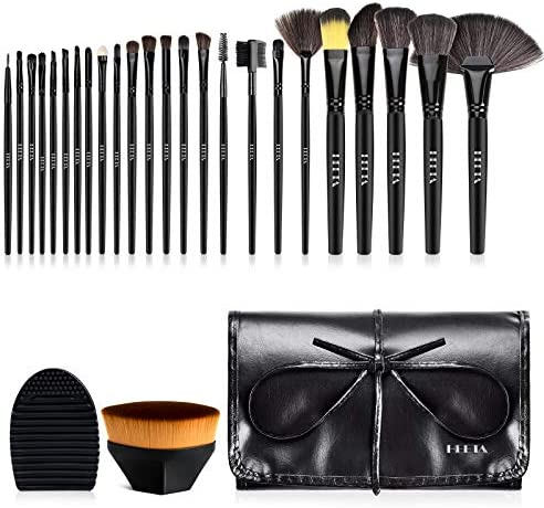 HEETA 24PCs Makeup Brushes Set Professional Cosmetic Brush Set with Brush Cleaner Sponges and product image