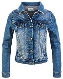 Rock Creek Giacca Jeans Donna Giacca Transition Denim Blouson Stretch Short Giacca Classica Denim Urban Stonewash D-401 Blu XL