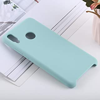 Phone Shell Solid Color Liquid Silicone Shockproof Case for Huawei Honor 8X(Black) (Color : Blue)