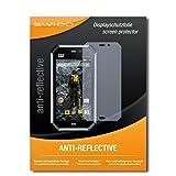 4 x SWIDO® Protector de pantalla Caterpillar Cat S50 Protectores de pantalla de película 'AntiReflex' antideslumbrante