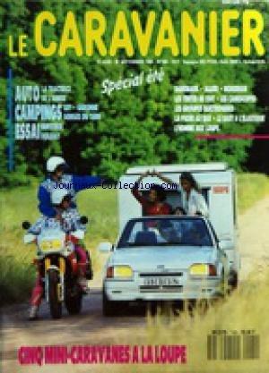 CARAVANIER (LE) [No 160] du 15/06/1990 - AUTO - CAMPINGS ET ESSAI - CIN...