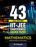 IIT JEE Mathematics 43 Years Chapter-wise Solved Paper (1978-2020) by Career Point