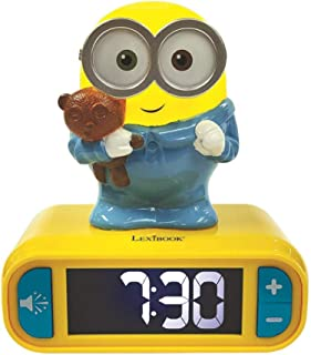 Lexibook RL800DES Digital Alarm Night Light-Snooze Function-Minions Sound Effects-for Children/Kids-Luminous Clock with Bo...