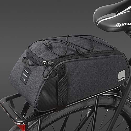 HOMPER Cycle Saddle Rear Rack Pannier Bike Bag 7 L Mountain Road MTB Bicycle Bike Trunk Bag Bicycle Accessories Shoulder Handbag Bag Pannier Black