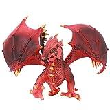 Zerodis Drago Volante Rosso Occidentale Simulazione Modello di Dinosauro con Ali Decorazione da Tavolo Giocattolo educativo per Bambini Regalo per Bambini Ragazzi e Ragazze(Dinosauro)