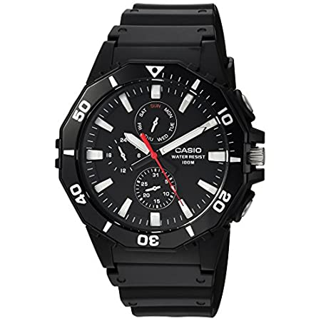 Casio watches Casio Men's Sports Analog-Quartz Watch with Resin Strap, Black, 21 (Model: MRW-400H-1AVCF)