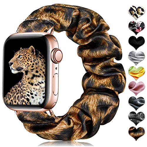 CeMiKa Scrunchie Elástica Correa Compatible con Apple Watch Correa 38mm 40mm 42mm...