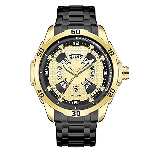 Steel Band Men's Watch, Sports Simple Waterproof Fashion Middle School Men's Watch,...