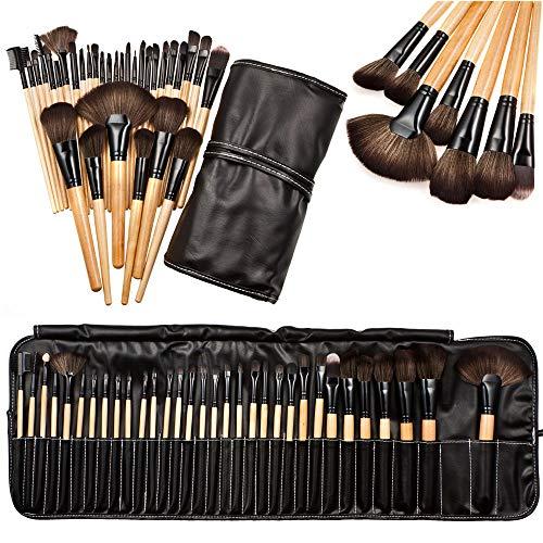 perfeclan 32pcs Pinceau Cosmétique De Maquillage Des Sourcils Ombre Douce Professionnel SET + Sac Pochette