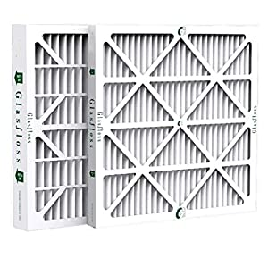 Glasfloss ZL16x20x2 MERV 10 AC & Furnace Filters. 12 Pack. Actual Size: 15-1/2 x 19-1/2 x 1-3/4