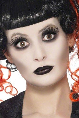 COOLMP – Juego de 6 – Kit de Maquillaje gótico para Adulto Halloween – Talla única – Maquillaje de Fiesta, Pelo, Piel, Labios, Ojos, Carnaval, Fiesta de Disfraces, cumpleaños,