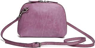 Khouses Women's fashion shoulder bag multi-function leather crossbody bag (Color : Purple, Size : 15 * 21 * 6cm)