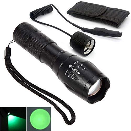 Luz roja Luz Verde Linterna LED batería Linterna Zoomable rojo verde LED Linterna para Noche Observaciones/astronomía/noche Land Navigation